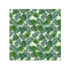 Leaves Tropical Wallpaper Foliage Small Satin Scarf (Square)