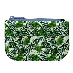 Leaves Tropical Wallpaper Foliage Large Coin Purse