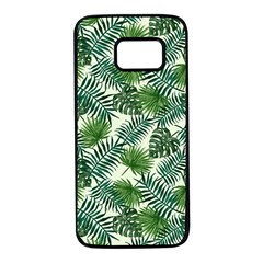 Leaves Tropical Wallpaper Foliage Samsung Galaxy S7 Black Seamless Case