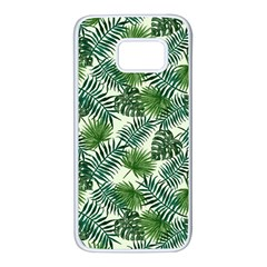 Leaves Tropical Wallpaper Foliage Samsung Galaxy S7 White Seamless Case