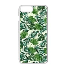 Leaves Tropical Wallpaper Foliage iPhone 7 Plus Seamless Case (White)