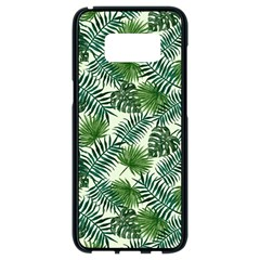 Leaves Tropical Wallpaper Foliage Samsung Galaxy S8 Black Seamless Case
