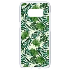 Leaves Tropical Wallpaper Foliage Samsung Galaxy S8 White Seamless Case
