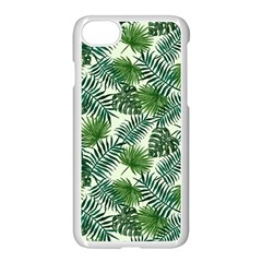 Leaves Tropical Wallpaper Foliage iPhone 8 Seamless Case (White)