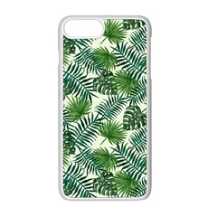 Leaves Tropical Wallpaper Foliage iPhone 8 Plus Seamless Case (White)