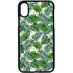 Leaves Tropical Wallpaper Foliage iPhone X Seamless Case (Black)