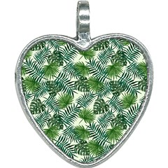 Leaves Tropical Wallpaper Foliage Heart Necklace