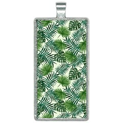 Leaves Tropical Wallpaper Foliage Rectangle Necklace