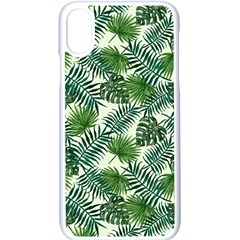 Leaves Tropical Wallpaper Foliage iPhone XS Seamless Case (White)