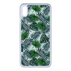 Leaves Tropical Wallpaper Foliage iPhone XS Max Seamless Case (White)