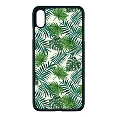 Leaves Tropical Wallpaper Foliage iPhone XS Max Seamless Case (Black)