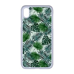 Leaves Tropical Wallpaper Foliage iPhone XR Seamless Case (White)