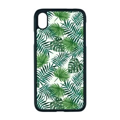 Leaves Tropical Wallpaper Foliage iPhone XR Seamless Case (Black)