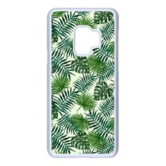 Leaves Tropical Wallpaper Foliage Samsung Galaxy S9 Seamless Case(White)
