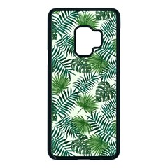 Leaves Tropical Wallpaper Foliage Samsung Galaxy S9 Seamless Case(Black)