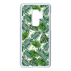 Leaves Tropical Wallpaper Foliage Samsung Galaxy S9 Plus Seamless Case(White)