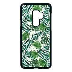 Leaves Tropical Wallpaper Foliage Samsung Galaxy S9 Plus Seamless Case(Black)