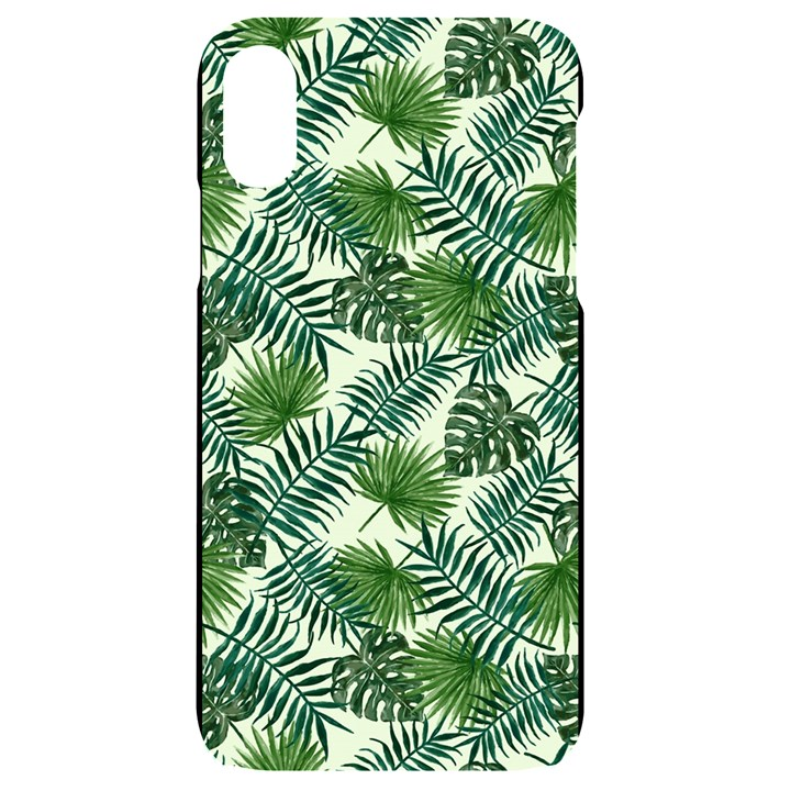Leaves Tropical Wallpaper Foliage iPhone XR Black UV Print Case