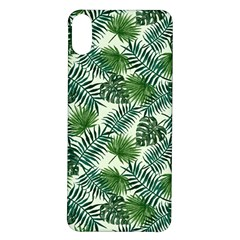 Leaves Tropical Wallpaper Foliage iPhone X/XS Soft Bumper UV Case