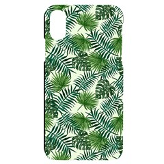 Leaves Tropical Wallpaper Foliage iPhone X/XS Black UV Print Case