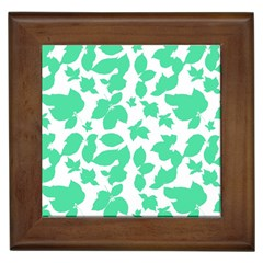 Botanical Motif Print Pattern Framed Tiles