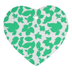 Botanical Motif Print Pattern Ornament (Heart)