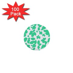 Botanical Motif Print Pattern 1  Mini Buttons (100 pack)