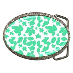 Botanical Motif Print Pattern Belt Buckles