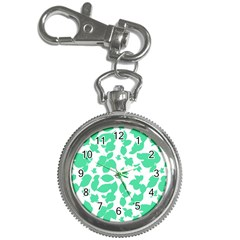 Botanical Motif Print Pattern Key Chain Watches