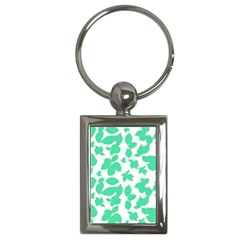 Botanical Motif Print Pattern Key Chain (Rectangle)