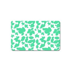 Botanical Motif Print Pattern Magnet (Name Card)