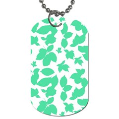 Botanical Motif Print Pattern Dog Tag (One Side)