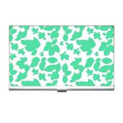 Botanical Motif Print Pattern Business Card Holder