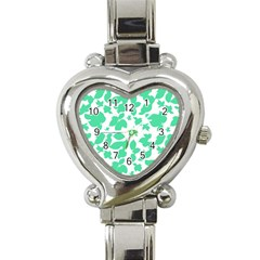 Botanical Motif Print Pattern Heart Italian Charm Watch