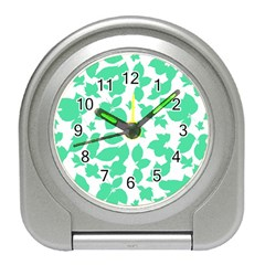 Botanical Motif Print Pattern Travel Alarm Clock