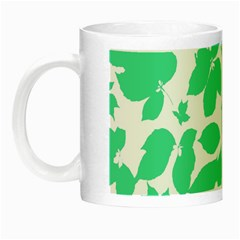 Botanical Motif Print Pattern Night Luminous Mugs