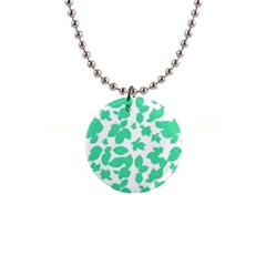 Botanical Motif Print Pattern 1  Button Necklace