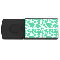 Botanical Motif Print Pattern Rectangular USB Flash Drive
