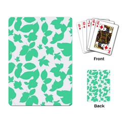 Botanical Motif Print Pattern Playing Cards Single Design (Rectangle)