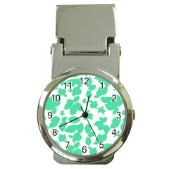 Botanical Motif Print Pattern Money Clip Watches