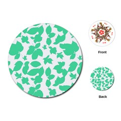 Botanical Motif Print Pattern Playing Cards Single Design (Round)