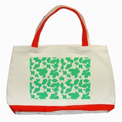 Botanical Motif Print Pattern Classic Tote Bag (Red)