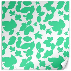 Botanical Motif Print Pattern Canvas 16  x 16