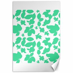Botanical Motif Print Pattern Canvas 24  x 36