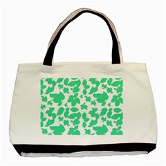 Botanical Motif Print Pattern Basic Tote Bag (Two Sides)