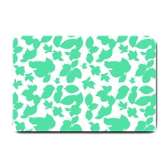 Botanical Motif Print Pattern Small Doormat