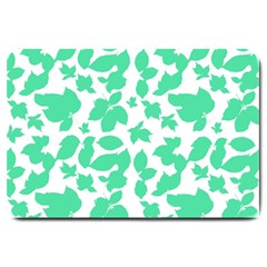 Botanical Motif Print Pattern Large Doormat