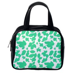 Botanical Motif Print Pattern Classic Handbag (One Side)