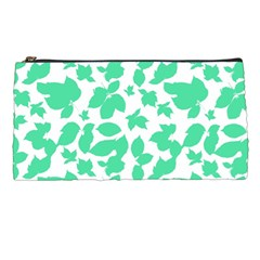 Botanical Motif Print Pattern Pencil Cases