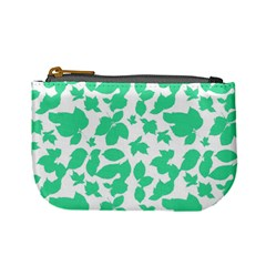 Botanical Motif Print Pattern Mini Coin Purse